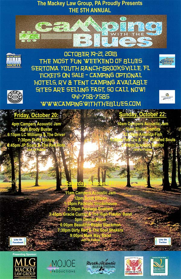 Camping with the Blues Poster
